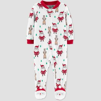 Baby Santa Fleece Sleep 'N Play - Just One You® made by carter's White 6M