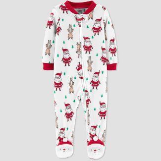 Baby Santa Fleece Sleep 'N Play - Just One You® made by carter's White Newborn