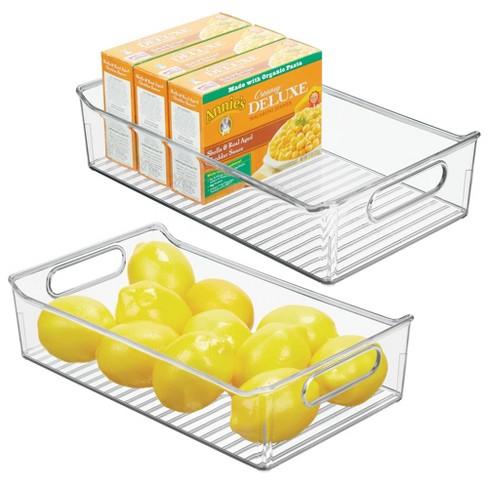 mDesign Wide Plastic Kitchen Pantry Refrigerator Food Storage Bin - image 1 of 4