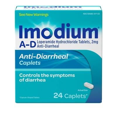 Imodium Anti-Diarrheal caplets - 24ct