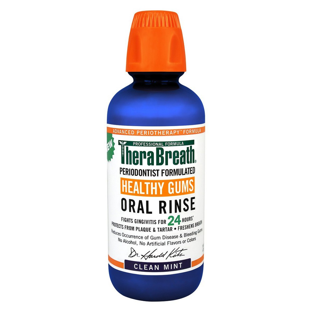 Image of TheraBreath Healthy Gums Oral Rinse Mint - 16 fl oz