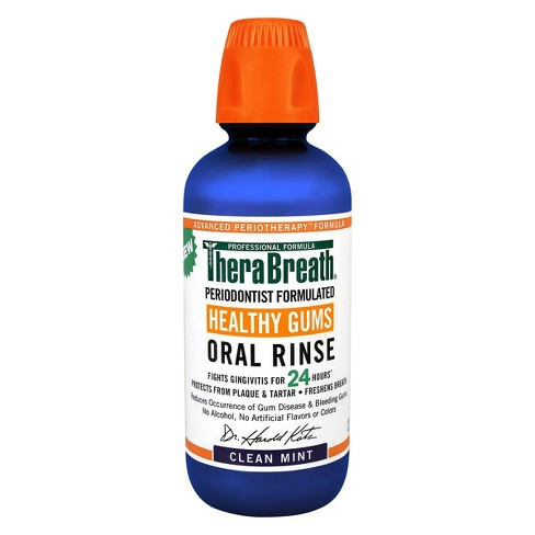 TheraBreath Healthy Gums Oral Rinse Mint - 16 fl oz - image 1 of 4