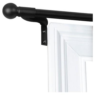 Easy Install Café Window Rod Black (48 x120 )