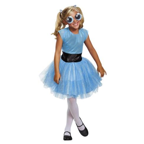 Girls Powerpuff Girls Bubbles Tutu Deluxe Costume Target