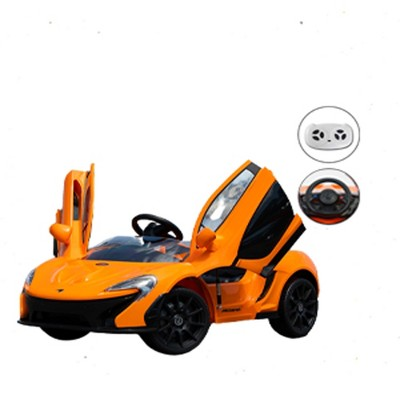 First Drive Mclaren P1 Kids Electric Ride On Toy Sports Car for Kids Ages 3-6 Years with Remote Control, Headlights, Aux Cord, and Horn, Orange