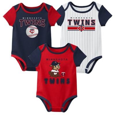 MLB Minnesota Twins Baby Boys' 3pk Bodysuit Set