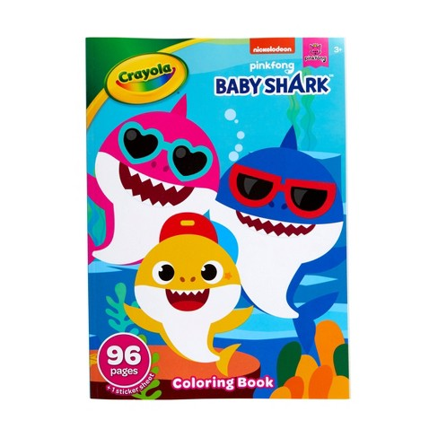 Crayola 96pg Baby Shark Coloring Book with Sticker Sheet - image 1 of 4