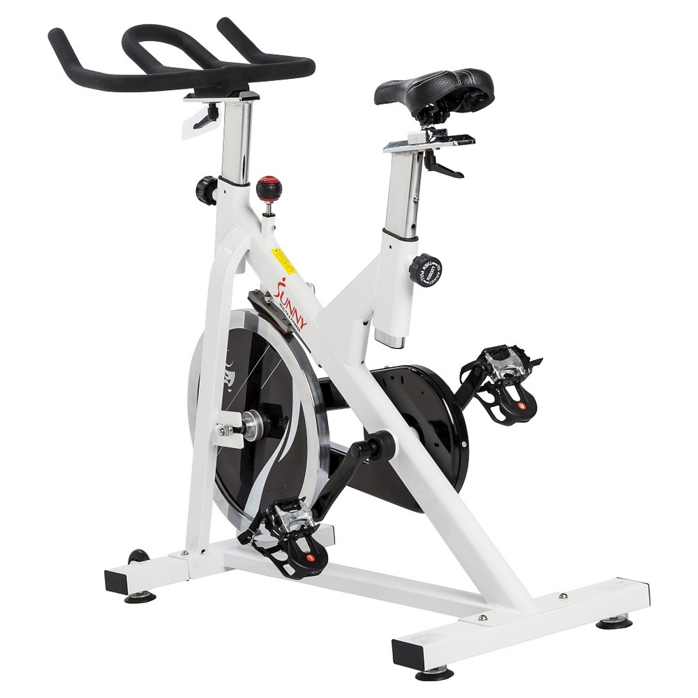 Sunny Health and Fitness (SF-B1110) Indoor Cycling Bike - White