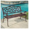 McKinley Cast Aluminum Patio Bench - Brown Copper - Christopher Knight Home - image 2 of 4