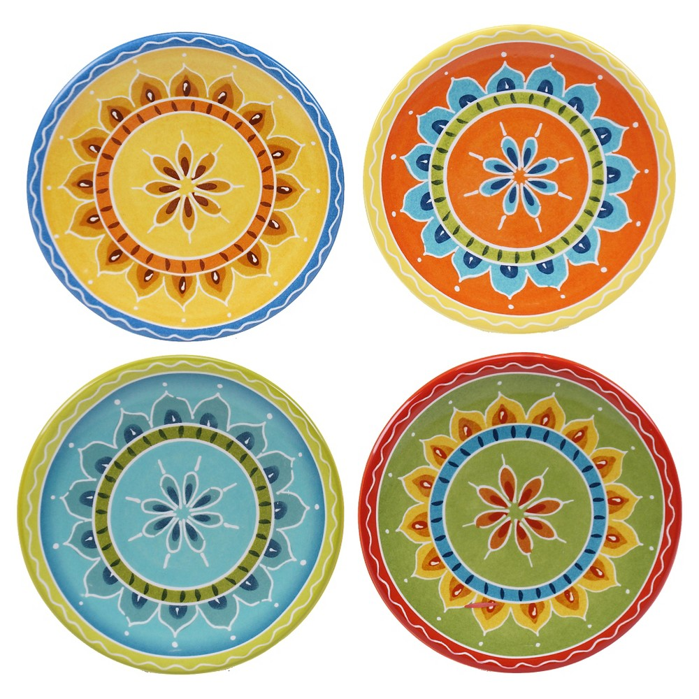 Assorted Canape Plate 6.25 Valencia Set of 4 - Certified International
