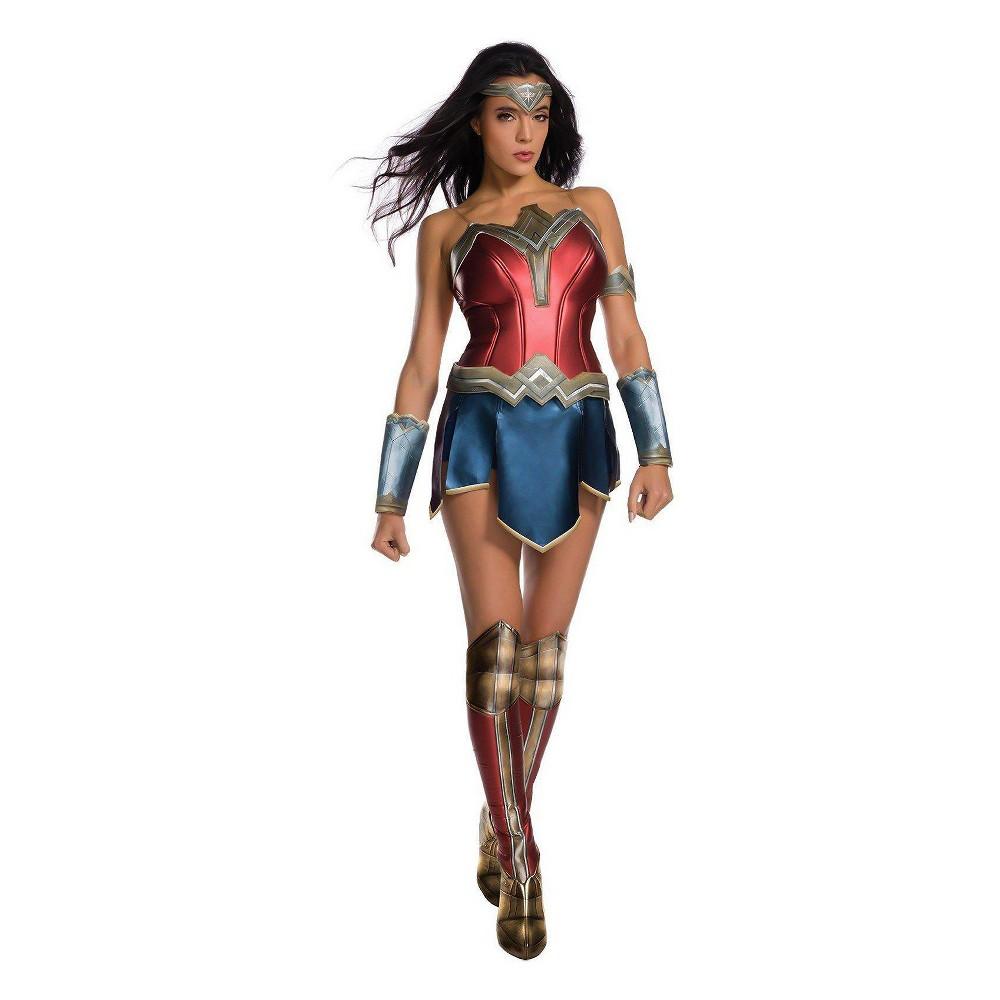 Image of Halloween Wonder Woman Movie Wonder Woman Adult Costume Kit-X-Small, Women's, MultiColored