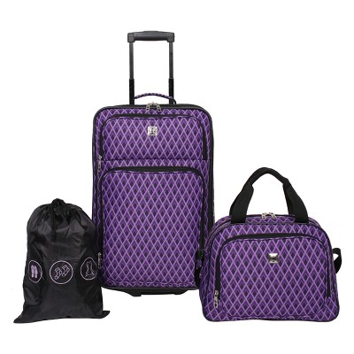 Skyline 3pc Luggage Set - Purple Diamond