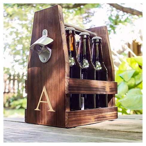 Cathys Concepts Rustic Craft Beer Carrier With Bottle Opener