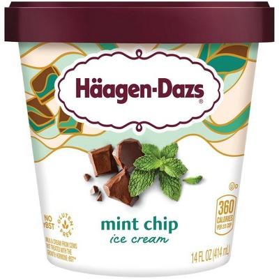 Haagen-Dazs Mint Chip Ice Cream - 14oz