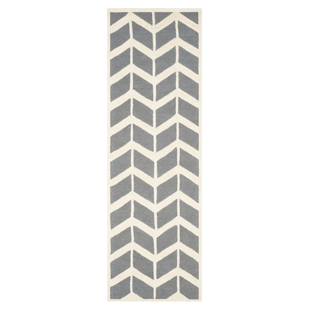 Keene Rug - Dark Gray / Ivory (2'6X8' Runner) - Safavieh, Dark Gray/Ivory