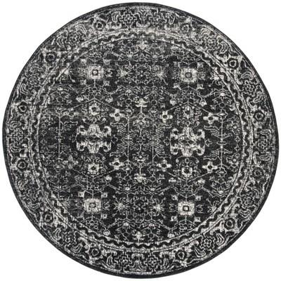 6'7  Medallion Round Area Rug Charcoal/Ivory - Safavieh