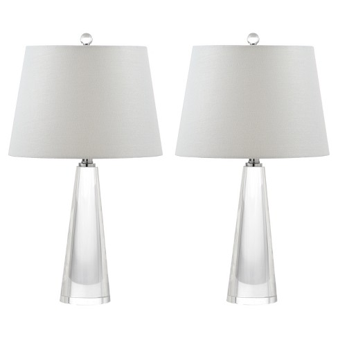 Gladys Clear/Off White Glass Table Lamp Set of 2 - Safavieh - image 1 of 3