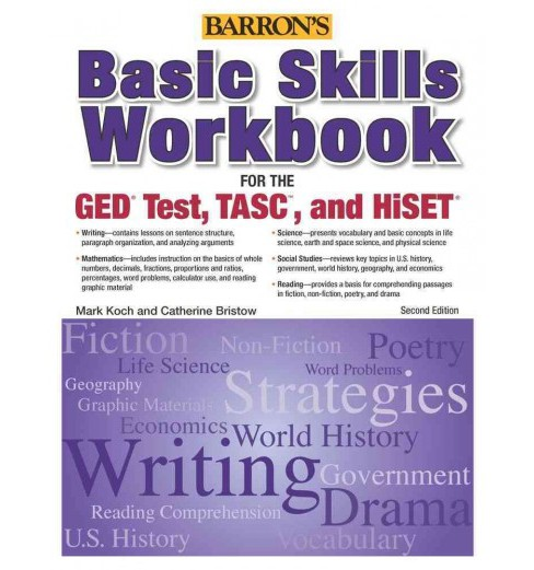 Basic Skills Workbook for the GED Test, TASC, and HiSET (Revised) (Paperback) (Mark Koch & Catherine - image 1 of 1