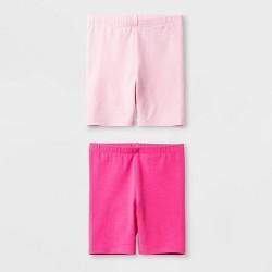 Toddler Girls' Solid 2pk Bike Shorts - Cat & Jack™ Pink