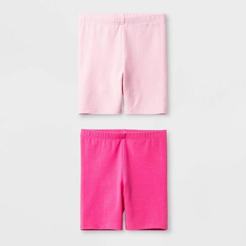 5ad7d7efa Toddler Girls' Solid 2pk Bike Shorts - Cat & Jack™ Pink : Target