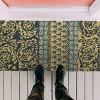 """TAG 1'6"""" x 3'3"""" Neela Block Print Estate Coir Doormat Indoor Outdoor Welcome Mat Jacobean Floral - image 2 of 4"""