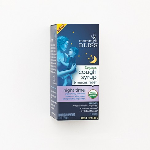 Mommy's Bliss Kids Organic Nighttime Cough & Mucus Relief Liquid - 4 fl oz - image 1 of 1