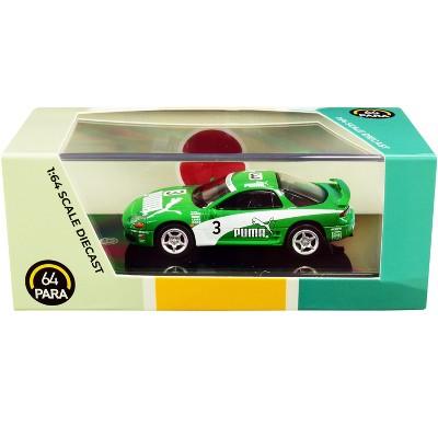 "Mitsubishi 3000GT GTO RHD (Right Hand Drive) #3 ""Puma"" Green and White 1/64 Diecast Model Car by Paragon"
