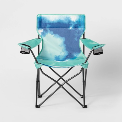 Adult Novelty Quad Chair Tie Die Teal - Sun Squad™ - image 1 of 4
