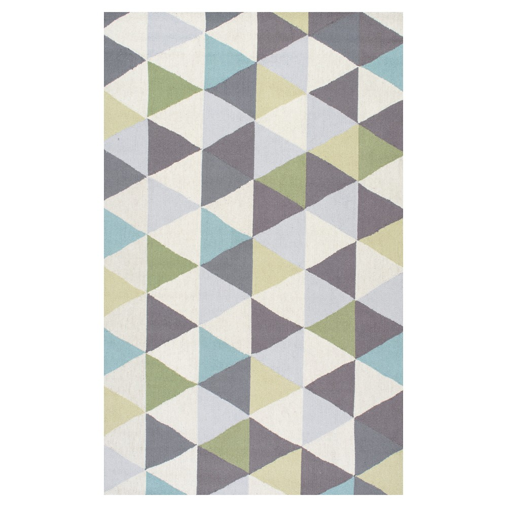 nuLOOM 100% Wool Hand Hooked Anderson Area Rug - Green (4' x 6')