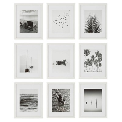 "(Set of 9)11"" x 14"" Gallery Grid Kit White - Instapoints"