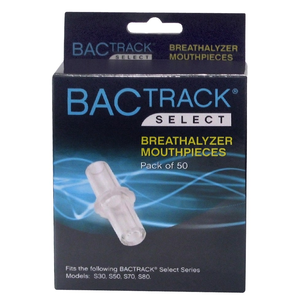 BACtrack Reusable Breathalyzer Mouthpieces - 50 ct, Clear