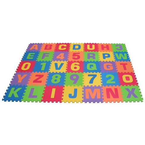 Edushape EduTiles Foam Numbers And Letters Set Piece Target - Styrofoam floor mats