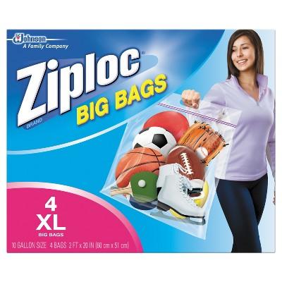 Ziploc® Double Zipper Big Bags - 4ct
