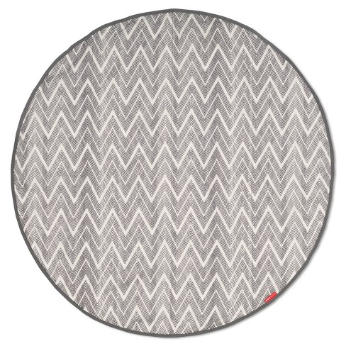 Skip Hop Grab & Go Round Trip Zig Zag Travel Mat - Gray - image 1 of 4
