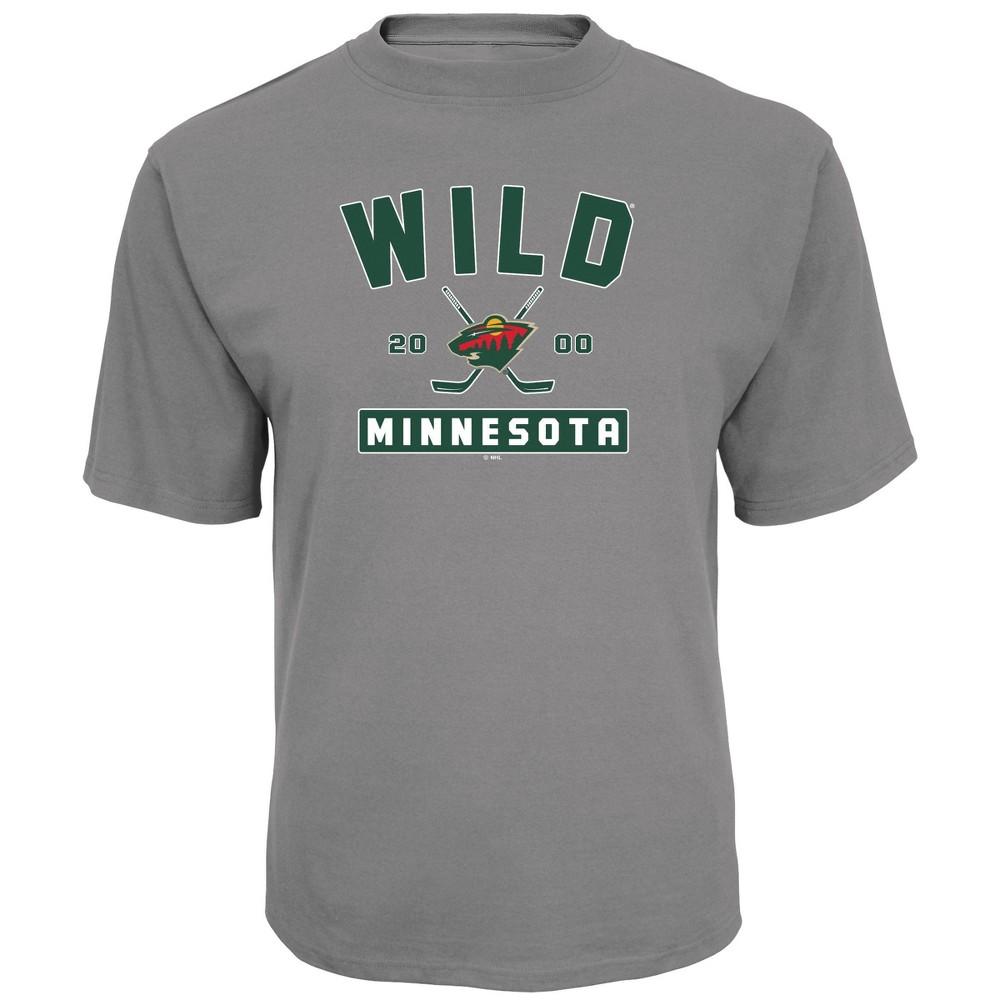 Nhl Minnesota Wild Men 39 S Center Ice Gray T Shirt M
