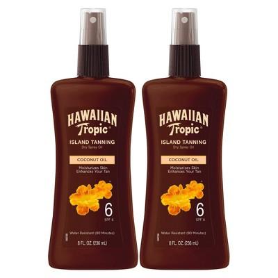 Hawaiian Tropic Tanning Oil Pump Spray - SPF 6 - 8oz/2pk
