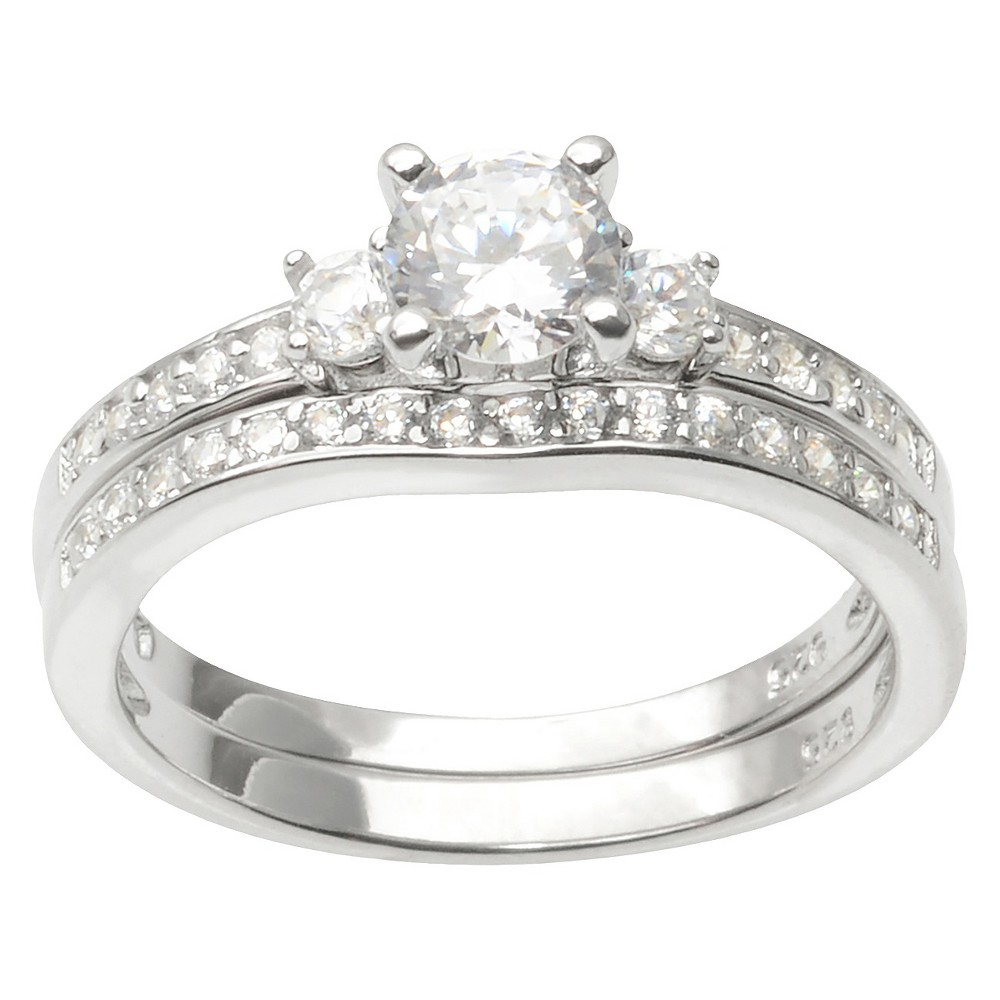 1 1/10 CT. T.W. Journee Collection Round Cut CZ Prong Set Elegant Ring in Sterling Silver - Silver (9)
