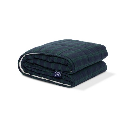 10lbs Flannel & Sherpa Weighted Blanket  - Z by Gravity