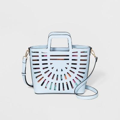Laser Cut Tote Handbag - A New Day™ Blue