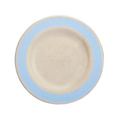"7.5"" 15ct Sugarcane Snack Plates Compostable Dinnerware Blue - Spritz™"