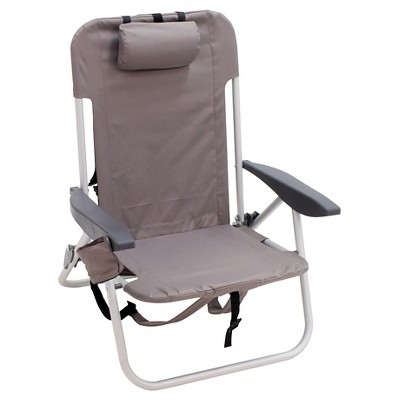 Low Folding Backpack Beach Chair - Gray - Room Essentials™