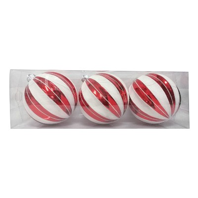 3ct Large Ornament Set Red and White Stripes - Wondershop™