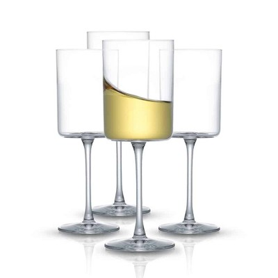 JoyJolt Claire Crystal White Wine Glasses – Set of 4 – 11.4 Ounce Wine Glass Set