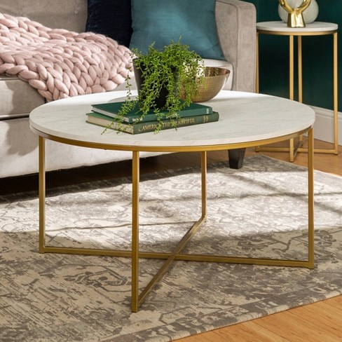 Coffee Table with X - Base - Saracina Home - image 1 of 6