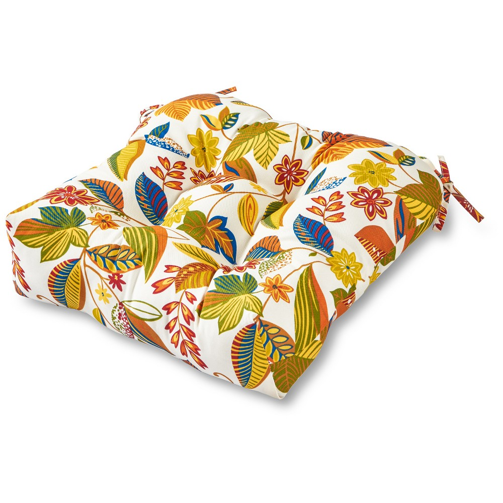 Image of Esprit Floral Outdoor Seat Cushion - Greendale Home Fashions