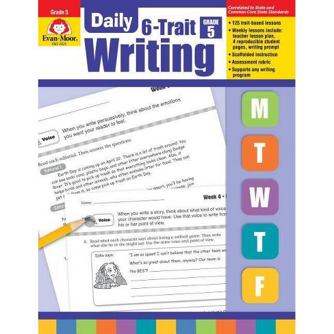 Daily 6-Trait Writing Grade 5 - by  Evan-Moor Educational Publishers (Paperback) - image 1 of 1