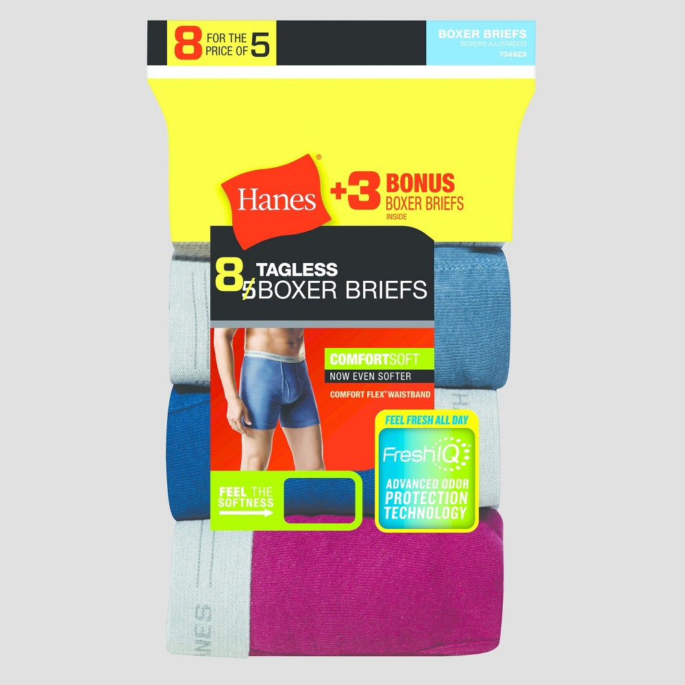 Hanes Men's Free Boxer Briefs 5pk +3 Colors Vary - M, Multicolored