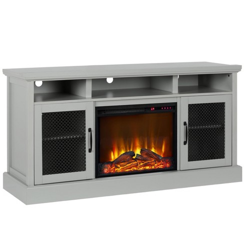 65 Pinewood Park Tv Stand With Fireplace Gray Room Joy Target