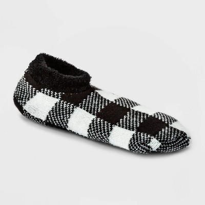 Women's Buffalo Check Plaid Double Lined Cozy Booties with Grippers - A New Day™ 4-10