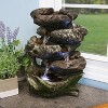 """Sunnydaze Indoor Decorative Calming 5-Step Rock Falls Waterfall Tabletop Water Fountain with LED Lights - 14"""" - image 3 of 4"""